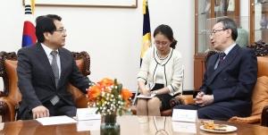 우다웨이 중국외교부 한반도사무특별대표 예방