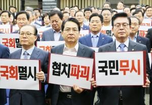 강경화 외교부 장관 임명 철회 집회